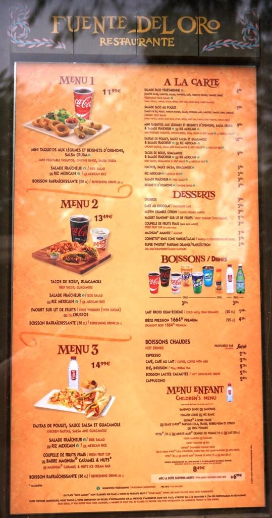 les menus des fast food et restauration rapide disneyland paris page 19. Black Bedroom Furniture Sets. Home Design Ideas