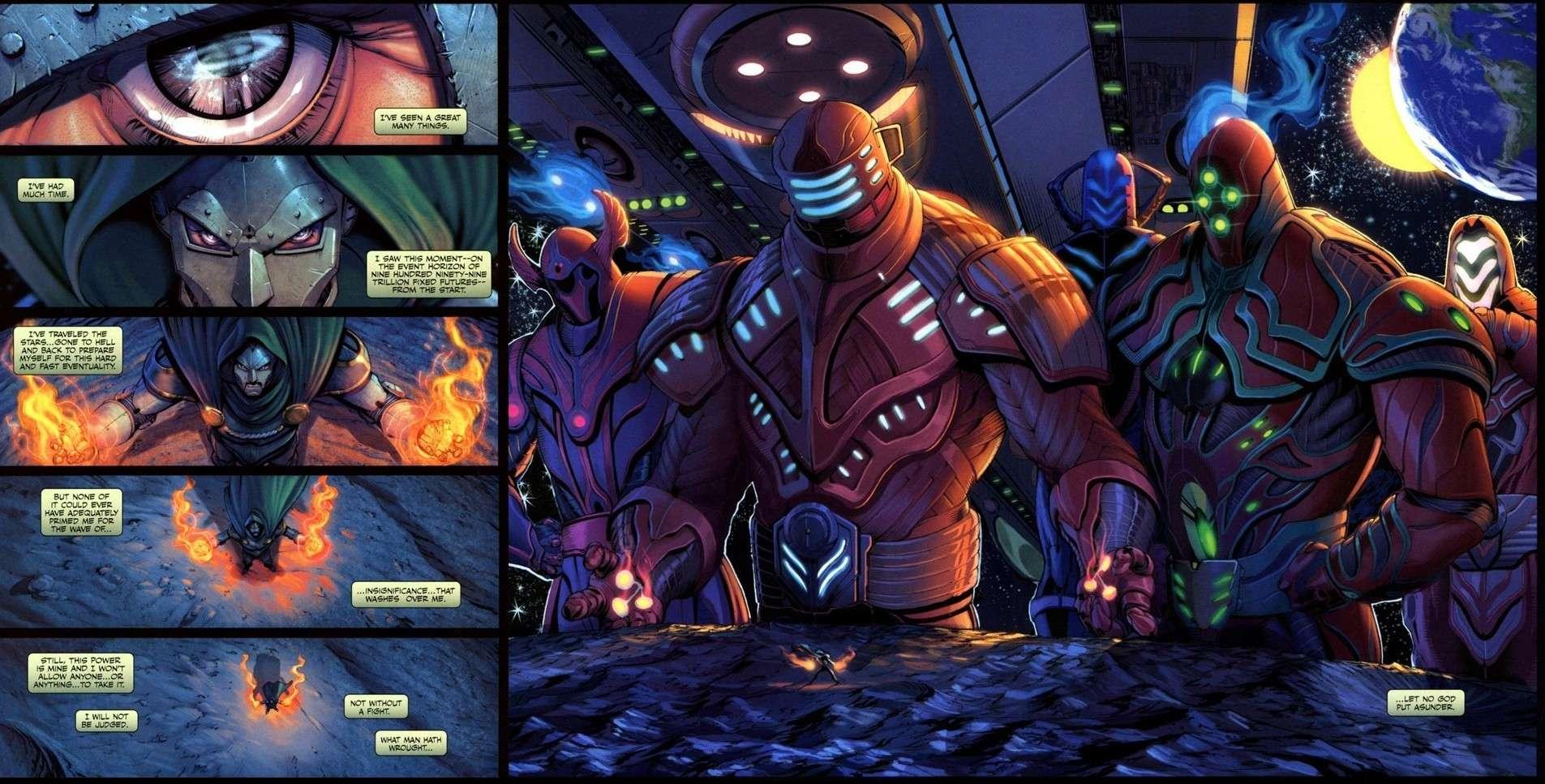 Dr.Doom (What If: Secret Wars With Beyonder Power) Vs The Beyonders