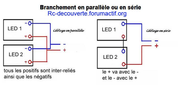 Fabriquer clairage led pour scx10 et scale trial feux for Branchement eclairage exterieur en serie