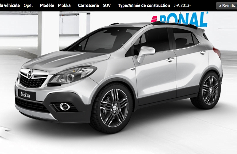 opel mokka configurateur. Black Bedroom Furniture Sets. Home Design Ideas